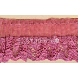 GATHERED TRIM LACE EDGED 001