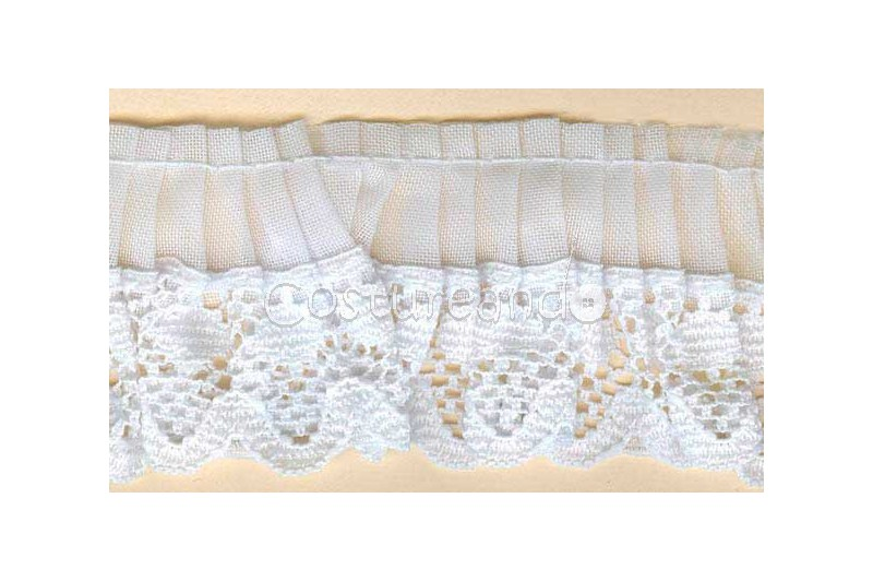 GATHERED TRIM LACE EDGED 002
