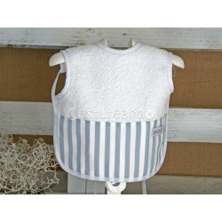 BLUE STRIPES T-SHIRT BIB