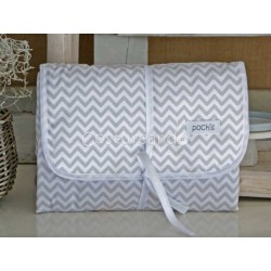 GREY ZIG ZAG BABY DIAPER CHANGER