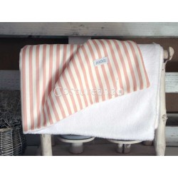 PINK STRIPES REVERSIBLE BLANKET