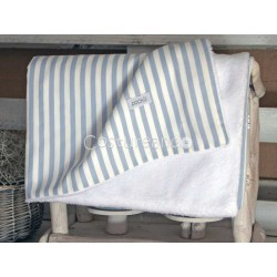 BLUE STRIPES REVERSIBLE BLANKET