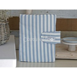 BLUE STRIPES DOCUMENT HOLDER