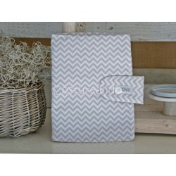 GREY ZIG ZAG DOCUMENT HOLDER