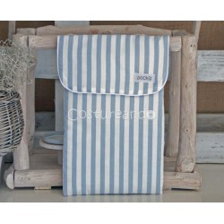 BLUE STRIPES BABY NAPPY BAG