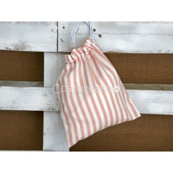 PINK STRIPES CLOTHES BAG
