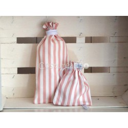 PINK STRIPES BABY NAPPY BAG