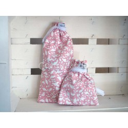 PINK FLOWER BABY NAPPY BAG