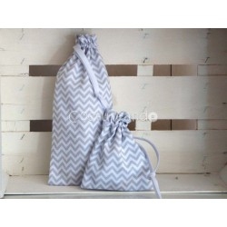 GREY ZIG ZAG BABY NAPPY BAG