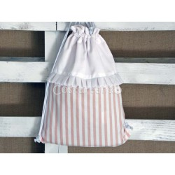 PINK STRIPES CLOTHING  BAG