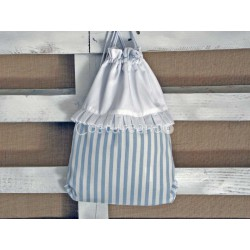 BLUE STRIPES CLOTHING  BAG
