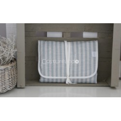 GREEN STRIPES  BABY DIAPER CHANGER