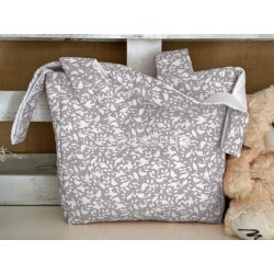 GREY BIRDS BABY CHANGING BAG