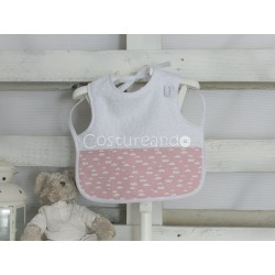 PINK FLOWER T-SHIRT BIB