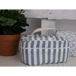BLUE STRIPES  WASH BAG WITH HANDLE