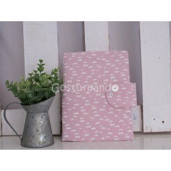 PINK FLOWER DOCUMENT HOLDER