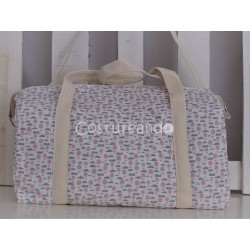 PINK BIRDS BIG BABY CHANGING BAG