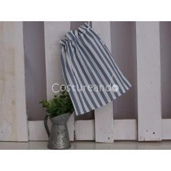 BLUE STRIPES CLOTHES BAG