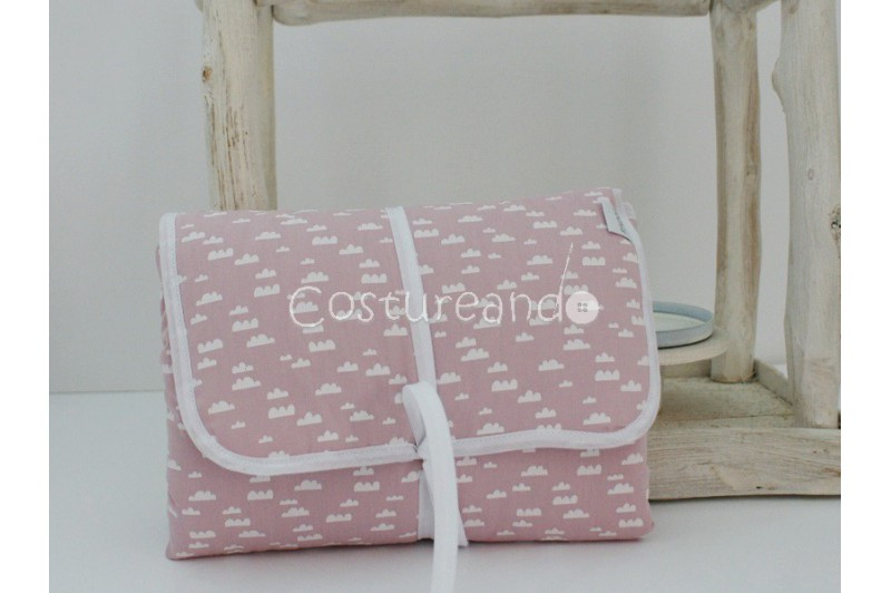 PINK CLOUDS BABY DIAPER CHANGER