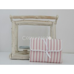 PINK STRIPES BABY DIAPER CHANGER
