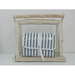 BLUE STRIPES BABY DIAPER CHANGER