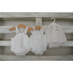 GREEN BABY DRESS SET I WHITH BLOOMER