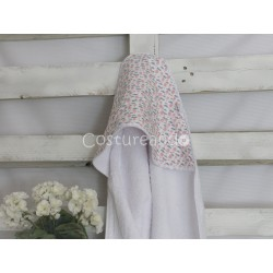 PINK BALLONS BABY HOODED TOWEL