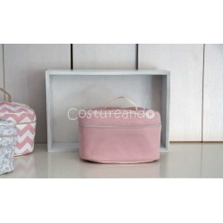 PLAIN PINK WASH BAG WITH HANDLE