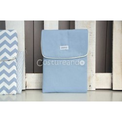 PLAIN BLUE BABY NAPPY BAG