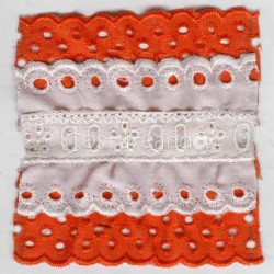 COLOURED EYELET EMBRODERY INSERTION 004