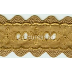 COLOURED EYELET EMBRODERY INSERTION 005