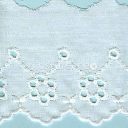 LIGHT CREAM / WHITE  EYELET EMBRODERY  LACE 003