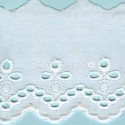 LIGHT CREAM / WHITE  EYELET EMBRODERY  LACE 007