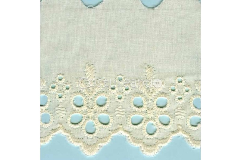 LIGHT CREAM / WHITE  EYELET EMBRODERY  LACE 008