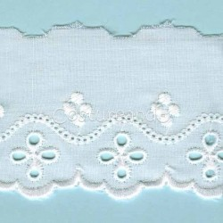 LIGHT CREAM / WHITE  EYELET EMBRODERY  LACE 014