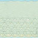 LIGHT CREAM / WHITE  EYELET EMBRODERY  LACE 023