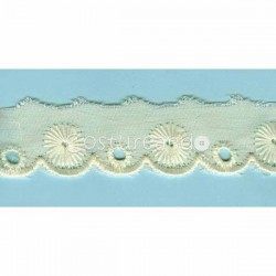 LIGHT CREAM / WHITE  EYELET EMBRODERY  LACE 026