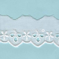 LIGHT CREAM / WHITE  EYELET EMBRODERY  LACE 027