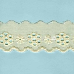 LIGHT CREAM / WHITE  EYELET EMBRODERY  LACE 031