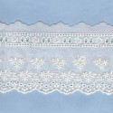 LIGHT CREAM / WHITE  EYELET EMBRODERY  LACE 036