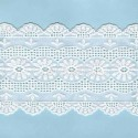 LIGHT CREAM / WHITE  EYELET EMBRODERY  LACE 038