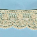 LIGHT CREAM / WHITE  EYELET EMBRODERY  LACE 043