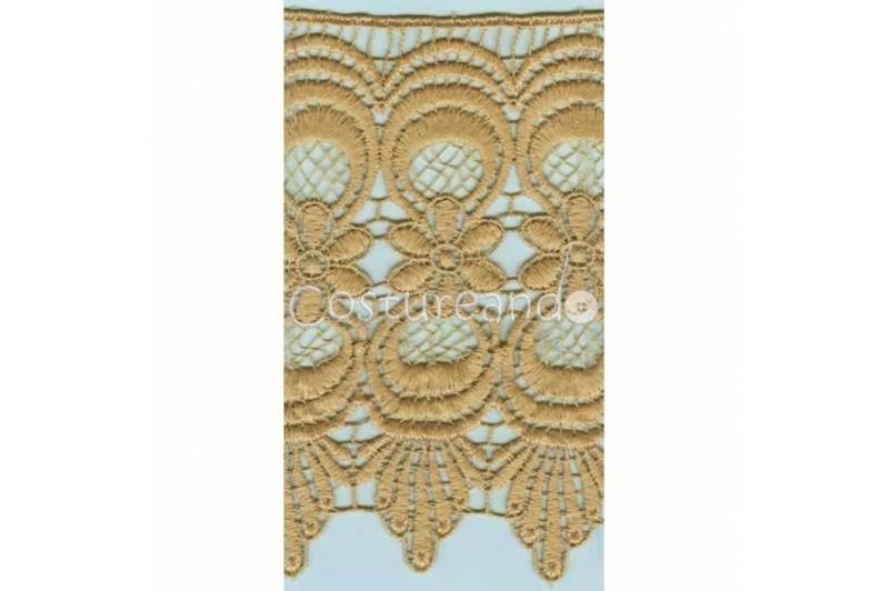 LIGHT CREAM / WHITE  EYELET EMBRODERY  LACE 046
