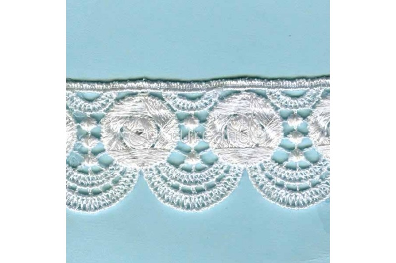 LIGHT CREAM / WHITE  EYELET EMBRODERY  LACE 050