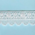 LIGHT CREAM / WHITE  EYELET EMBRODERY  LACE 051