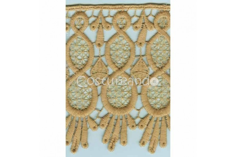 LIGHT CREAM / WHITE  EYELET EMBRODERY  LACE 053