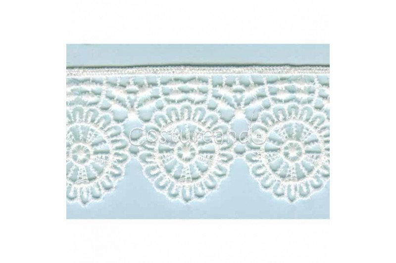 LIGHT CREAM / WHITE  EYELET EMBRODERY  LACE 055