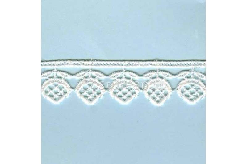 LIGHT CREAM / WHITE  EYELET EMBRODERY  LACE 057