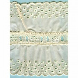 LIGHT CREAM / WHITE EYELET EMBRODERY INSERTION 006