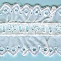 LIGHT CREAM / WHITE EYELET EMBRODERY INSERTION 007